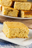 Golden Organic Homemade Cornbread Stock Images