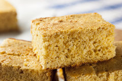 Golden Organic Homemade Cornbread Royalty Free Stock Images