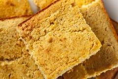 Golden Organic Homemade Cornbread Royalty Free Stock Image