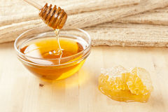 Golden Organic Honey Royalty Free Stock Photography