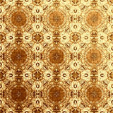 Golden oriental pattern, folk traditional elements Stock Photography
