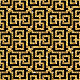 Golden oriental swastika pattern Stock Photos
