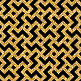 Golden oriental swastika pattern Royalty Free Stock Photography