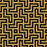 Golden oriental swastika pattern Royalty Free Stock Photos