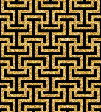 Golden oriental swastika pattern Royalty Free Stock Photo