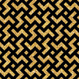 Golden oriental swastika pattern Stock Photo