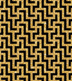 Golden oriental swastika pattern Royalty Free Stock Images