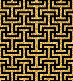 Golden oriental swastika pattern Stock Images