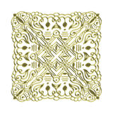 Golden ornament. Golden detailed ornament on white background Royalty Free Stock Image