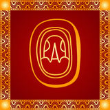 Golden ornament of American Indians, Aztec and Maya Stock Photos