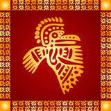 Golden ornament of American Indians, Aztec and Maya Stock Images