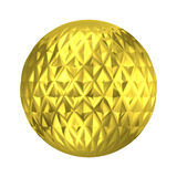 Golden ornament ball decorative sphere Stock Photography
