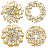 Golden ornament collection. On white. Perfect for Christmas or festive occations vector illustration