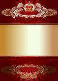 Golden Ornament On Red Background Royalty Free Stock Photography