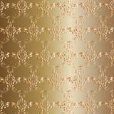Golden Ornamental background Stock Image