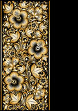 Golden ornamental background Stock Image