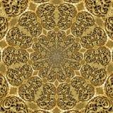 Golden Ornamental Engraving Flowers Royalty Free Stock Photo
