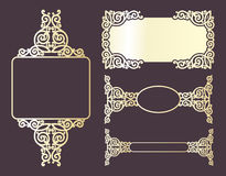 Golden ornamental frames Royalty Free Stock Photos
