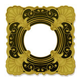 Golden ornamental vintage picture frame Royalty Free Stock Photos