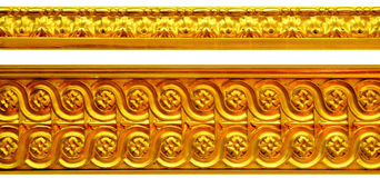 Golden ornaments. Golden wall ornaments from Royal Castle in Warsaw Royalty Free Stock Photography