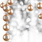 Golden ornaments. With the new year number 2018 Stock Images