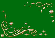 Golden Ornaments With Stars Stock Images