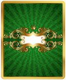 Golden ornate frame Stock Photo