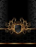 Golden ornate frame for design Stock Photos