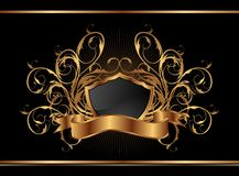 Golden ornate frame for design Royalty Free Stock Photography