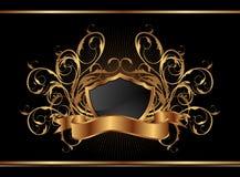 Golden ornate frame for design Royalty Free Stock Photography