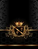 Golden Ornate Frame With Crown Royalty Free Stock Photos