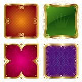 Golden ornate frames Stock Photo