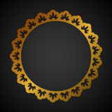Golden ornate round frame Royalty Free Stock Photo