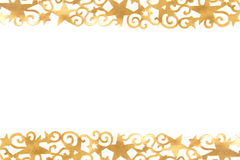 Golden ornate stars Royalty Free Stock Image