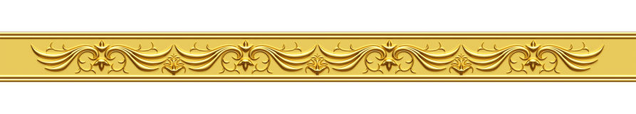 Golden Ornate Strip Royalty Free Stock Photography