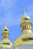 Golden Orthodox Christian crosses Royalty Free Stock Photos