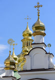 Golden Orthodox Christian crosses Royalty Free Stock Images