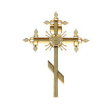 Golden orthodox cross Royalty Free Stock Photography