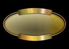 Golden oval banner Stock Photo