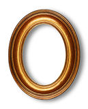 Golden oval frame Royalty Free Stock Photography