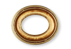 Golden oval frame Stock Photos