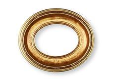 Golden oval frame stock photos