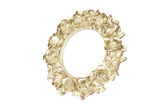 Golden oval picture frame Stock Photography