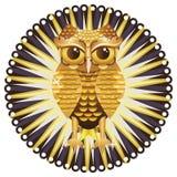 Golden Owl Stock Photo