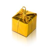 Golden package Stock Image