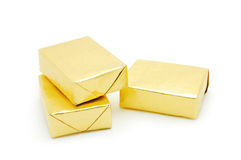 Golden Packages Stock Image