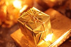 Golden packet Royalty Free Stock Images