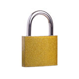 Golden padlock Royalty Free Stock Images