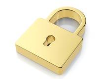 Golden padlock symbol Royalty Free Stock Photography