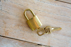 Golden padlock Stock Photo